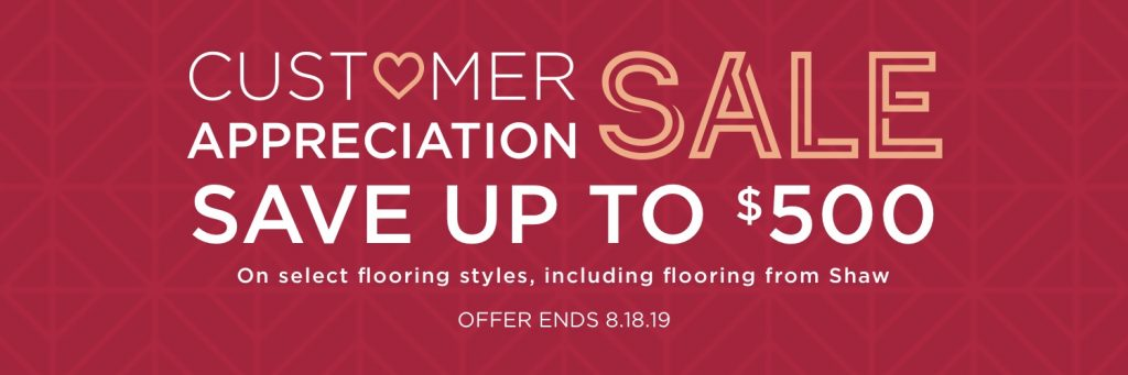 Customer Appreciation Sale | Floor Boys
