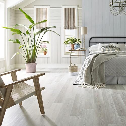 luxury vinyl tile in bedroom