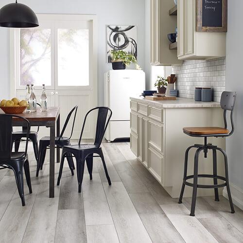 luxury vinyl flooring in kitchen