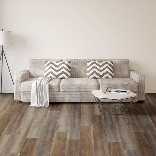 luxury viny tile in basement